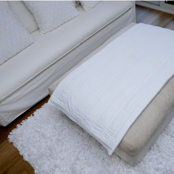 Taj Hand Quilted Coverlet Throw