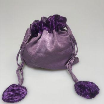 Satin Pouch Purple