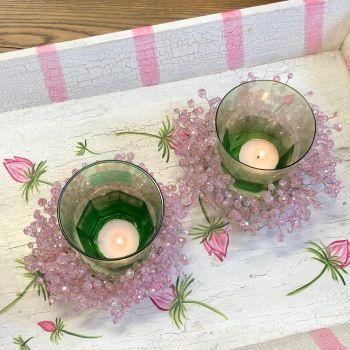 Green Tea Light Set of Six